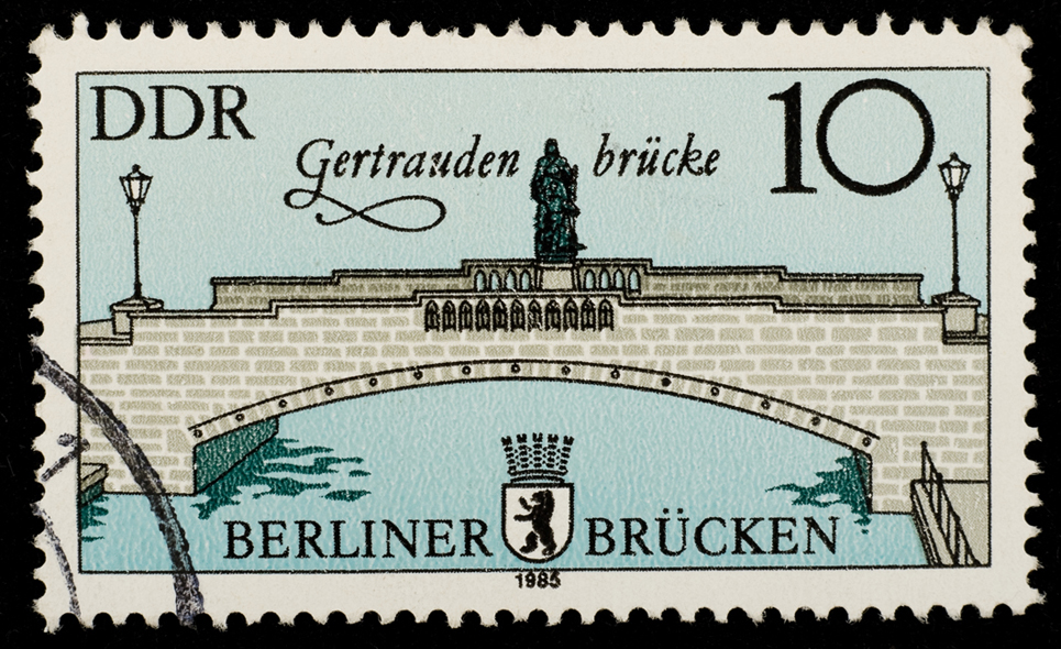 a stamp, ddr, bridge